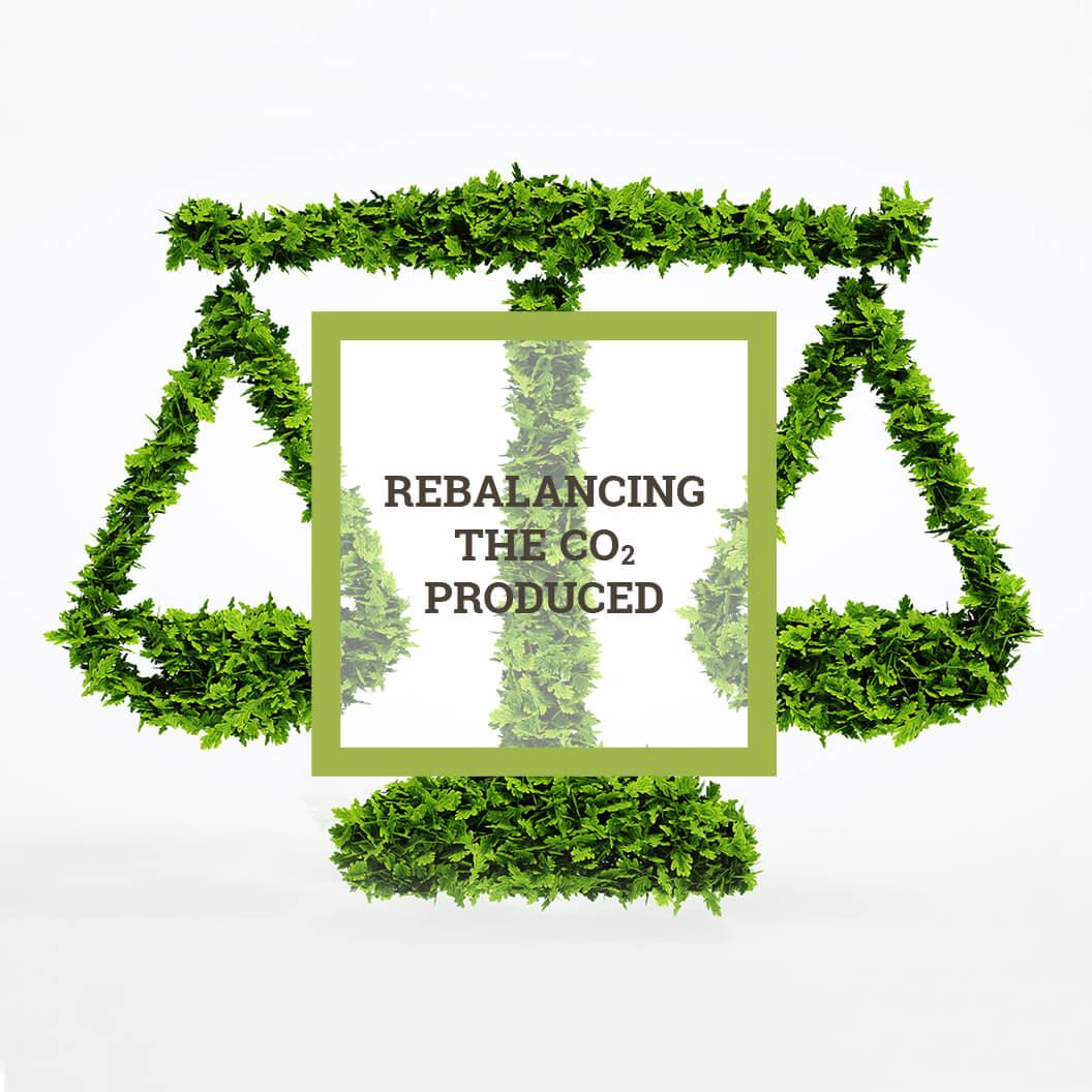 Rebalancing the CO2 produced