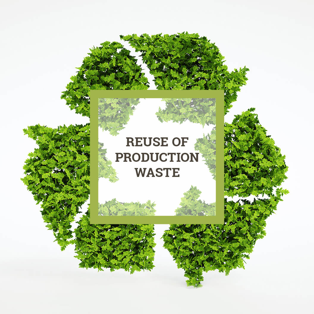 Reuse of production waste
